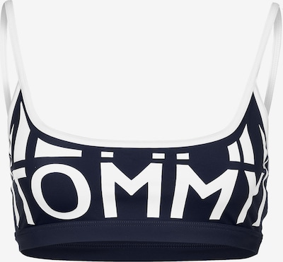 TOMMY HILFIGER Bikini Oberteil ' W ' in dunkelblau / weiß, Produktansicht