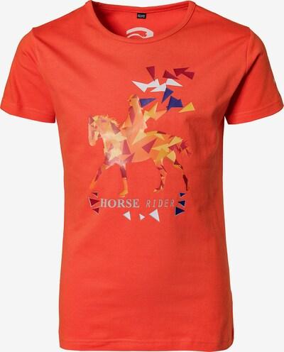 RED HORSE T-Shirt 'Horse Rider' in saphir / mandarine / koralle / weiß, Produktansicht