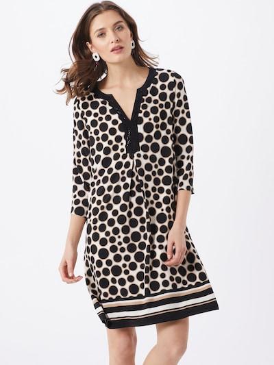 s.Oliver BLACK LABEL Kleid in beige / schwarz, Modelansicht