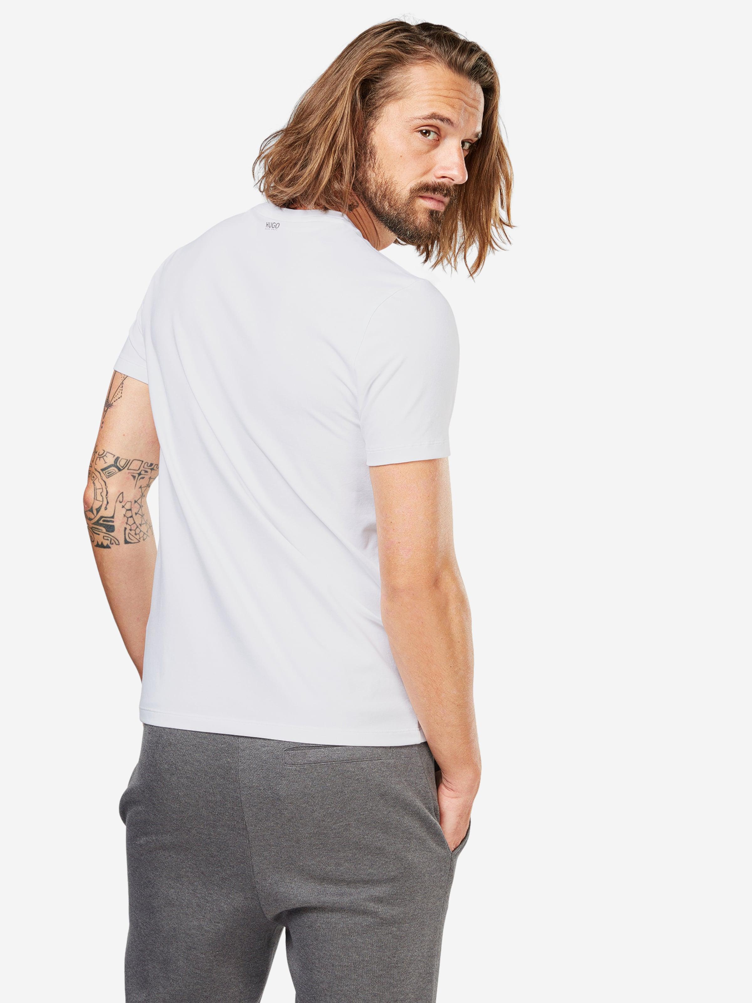 Weiß T shirt Im In Hugo 'round' Doppelpack ymfb6gY7Iv