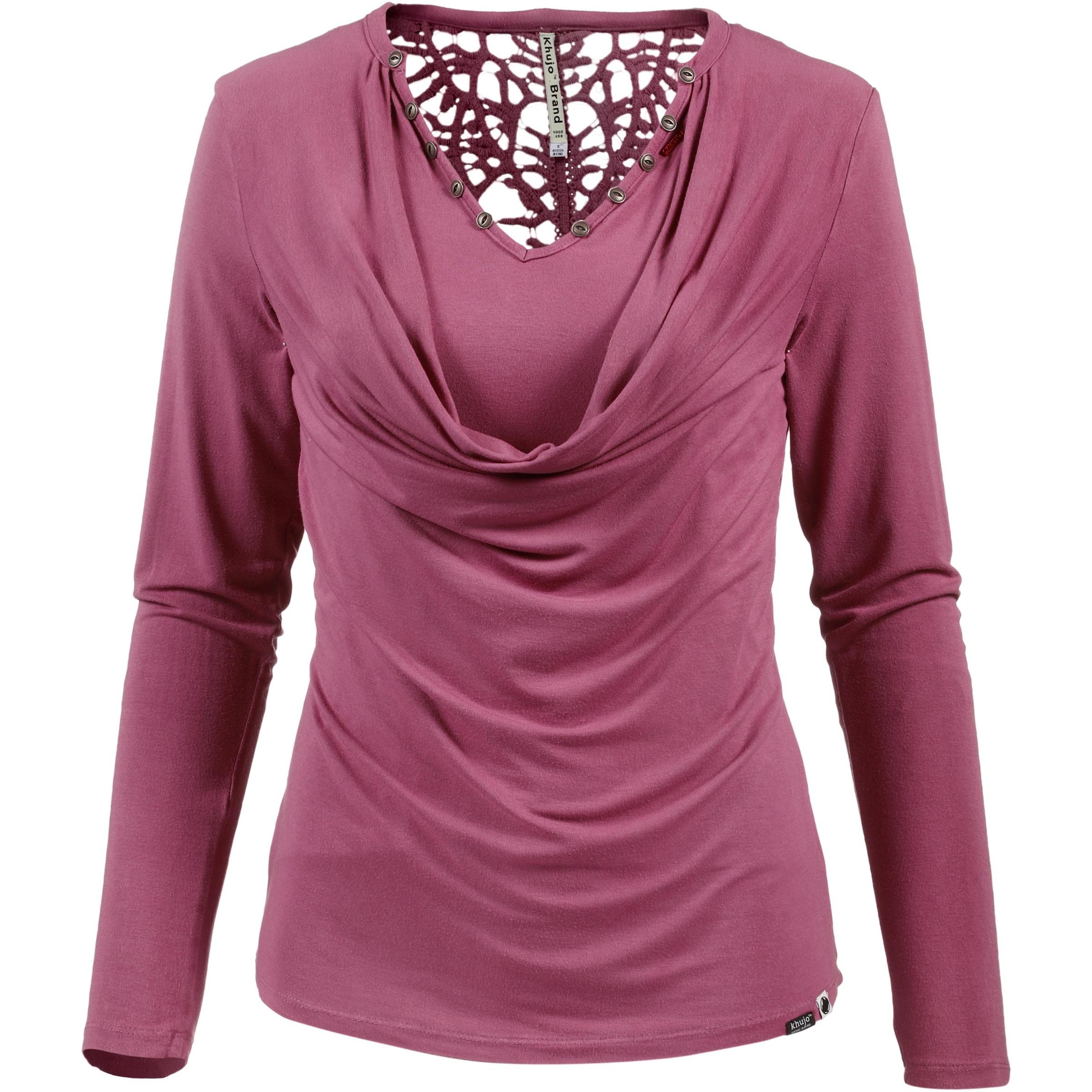 khujo Khujo Langarmshirt Damen Online-Shop Extrem Günstig Online Billigpreisnachlass Authentisch Auslass Empfehlen UgvSvG
