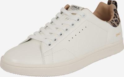 ONLY Sneakers low 'SHILO' in brown / white, Item view