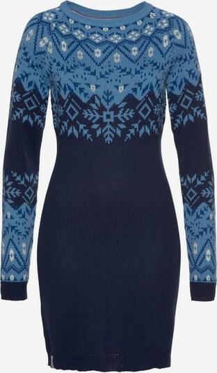 KangaROOS Strickkleid in royalblau / hellblau / dunkelblau, Produktansicht