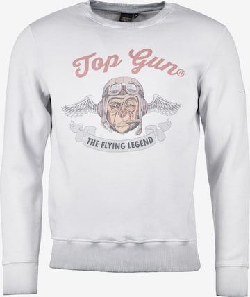 TOP GUN Sweatshirt 'Smoking Monkey' in Grau