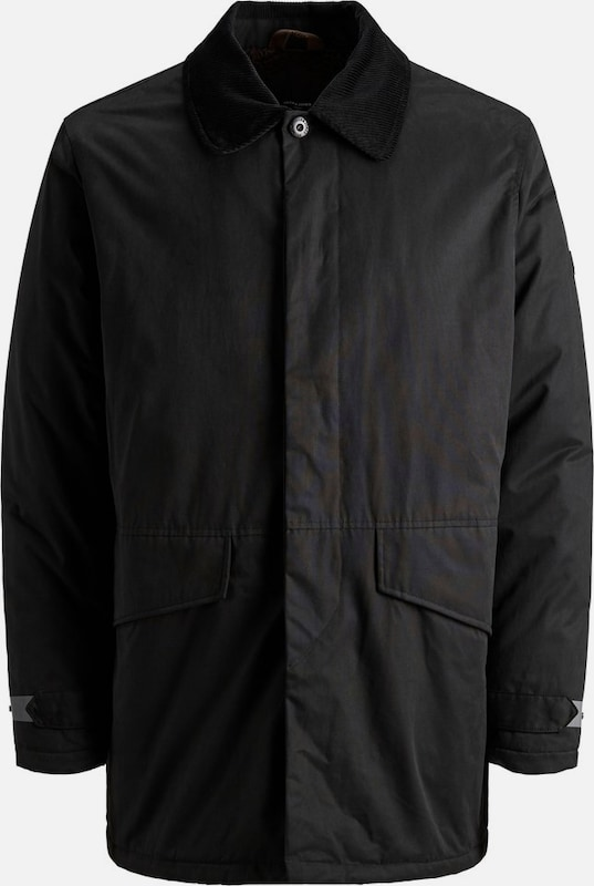 JACK & JONES Trenchcoat in schwarz, Produktansicht