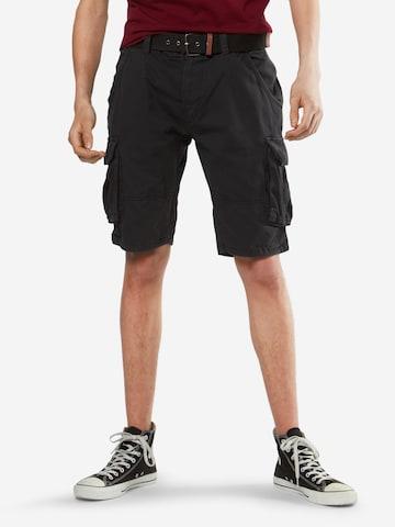 INDICODE JEANSCargo hlače 'Monroe' - crna boja
