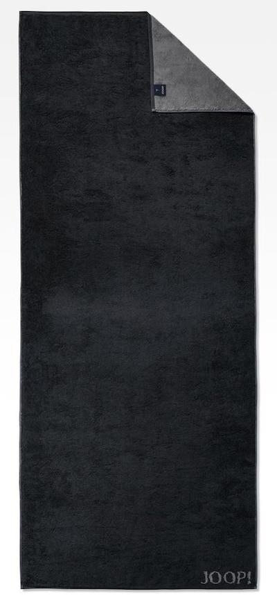 JOOP! Serviette de douche 'Doubleface' en gris foncé / noir, Vue avec produit