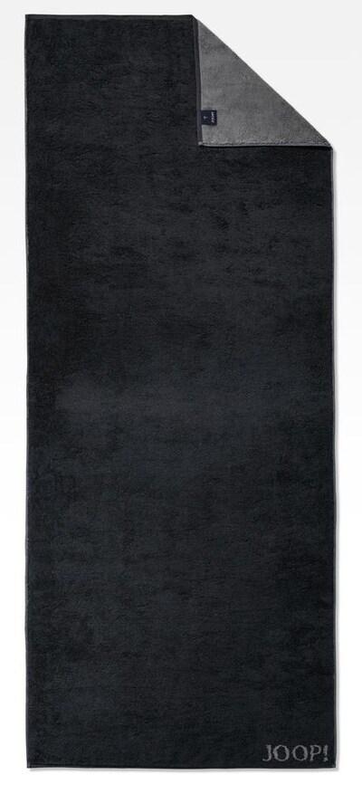 JOOP! Saunatuch 'Doubleface' in dunkelgrau / schwarz, Produktansicht