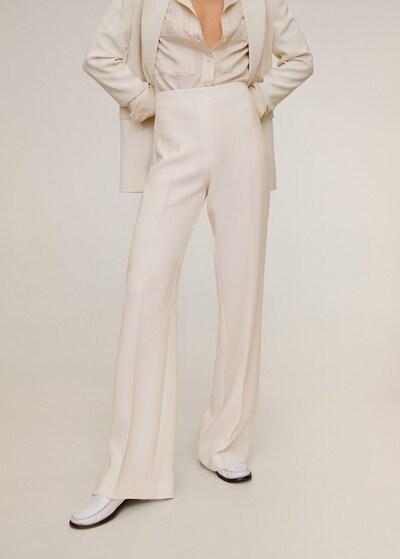 MANGO Pantalon 'palachin' in de kleur Beige / Wit: Vooraanzicht