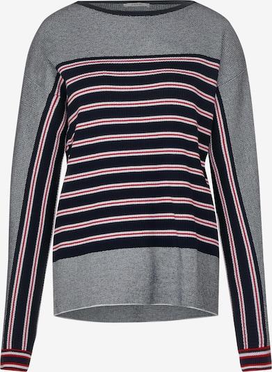 CECIL Pullover in nachtblau / grau / rot / weiß, Produktansicht
