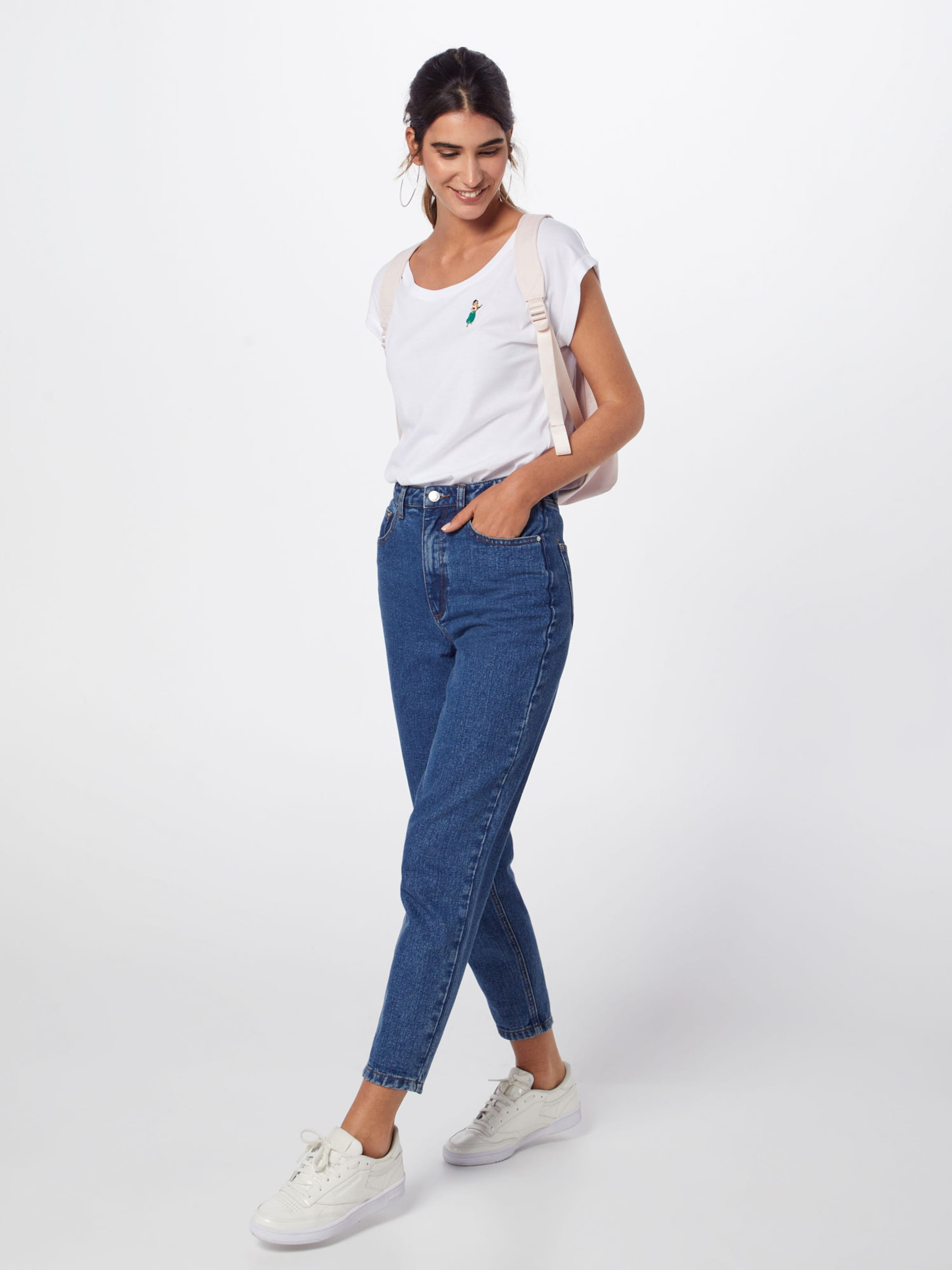 Girl shirt Iriedaily En Blanc T 'hula Tee' mO80vNnw