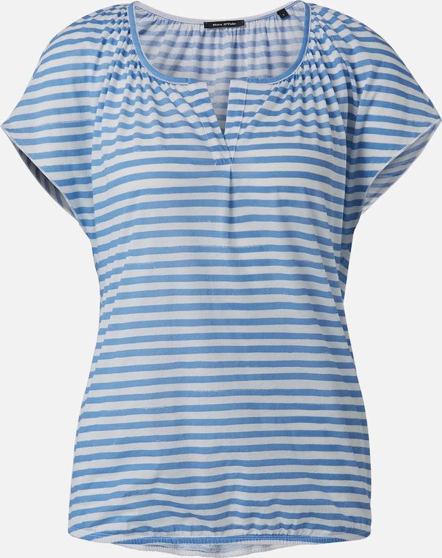 Marc O'Polo Blausenshirt in hellblau   naturweiß  Neu in diesem Quartal