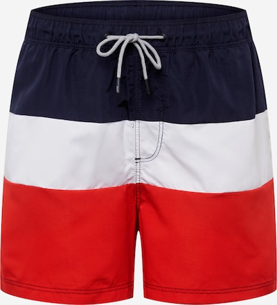 JACK & JONES Shorts 'Iaruba' in navy / rot / weiß, Produktansicht