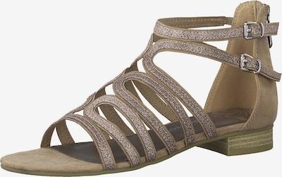 Sandale cu baretă MARCO TOZZI pe bej / roze, Vizualizare produs