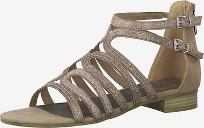 MARCO TOZZI Sandale in beige / rosé, Produktansicht