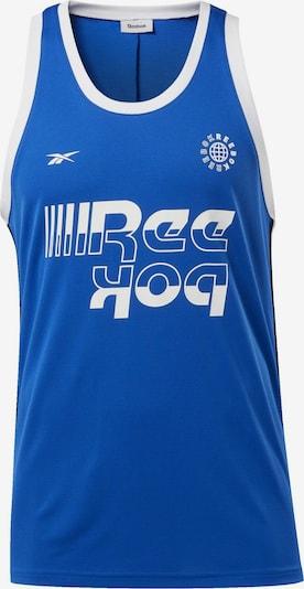 REEBOK Functioneel shirt in de kleur Blauw / Wit, Productweergave