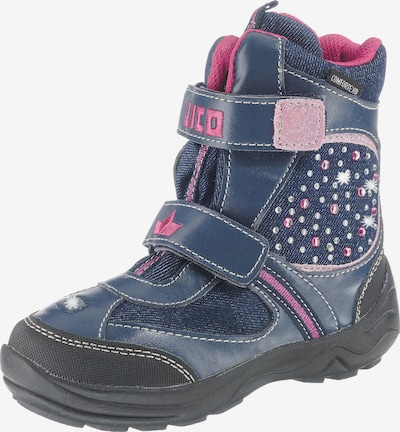 LICO Winterstiefel 'JEWEL' in blau / blue denim / pink, Produktansicht