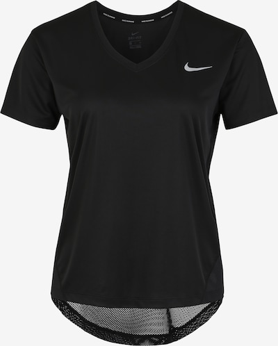 NIKE Sport-Shirt 'Miler' in schwarz / weiß, Produktansicht