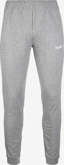 Hummel Pantalon de sport 'Go Cotton' en gris / blanc, Vue avec produit