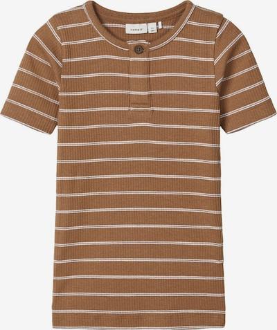 NAME IT Slim Fit T-Shirt in braun / weiß, Produktansicht