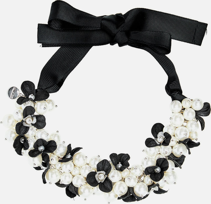 HALLHUBER Perlencollier mit Ripsbändern