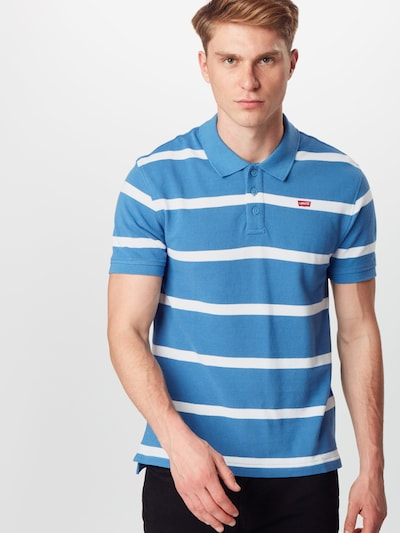 LEVI'S Tričko - nebesky modrá / biela: Pohľad spredu