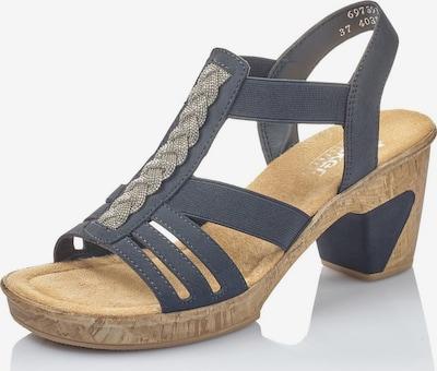 RIEKER Sandalette in hellbeige / nachtblau: Frontalansicht