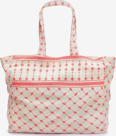 LASCANA Strandtasche in creme / koralle, Produktansicht