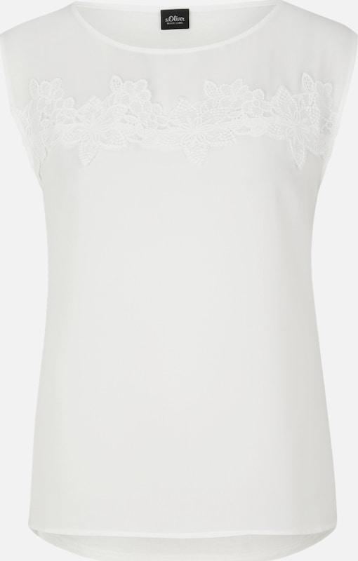 S.Oliver schwarz LABEL Top in weiß  Neue Kleidung in dieser Saison