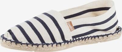 Espadrillas 'Classic' espadrij l´originale di colore marino / bianco naturale: Vista frontale