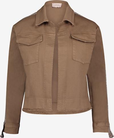 Cartoon Casual-Jacke mit aufgesetzter Brusttasche in braun: Frontalansicht