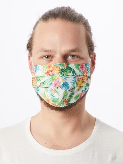 Zwillingsherz Stoffmasken '2er Pack Hawaii' in mischfarben / weiß: Frontalansicht
