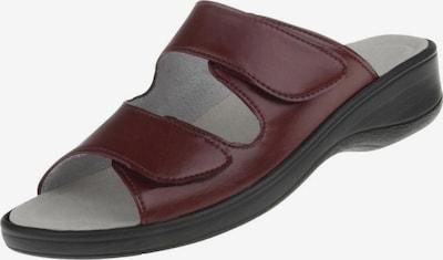 Natural Feet Muiltjes 'Leonie' in de kleur Wijnrood, Productweergave