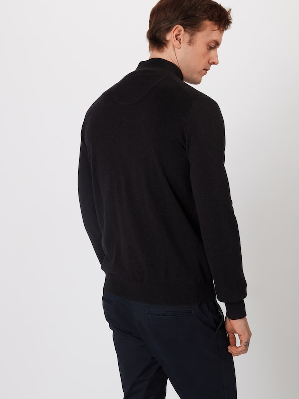 hatton Zip' En 'cardigan Vestes Noir Fynch Maille 08wNnvm