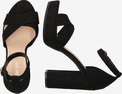 ABOUT YOU Sandale 'Carina' in schwarz: Seitenansicht