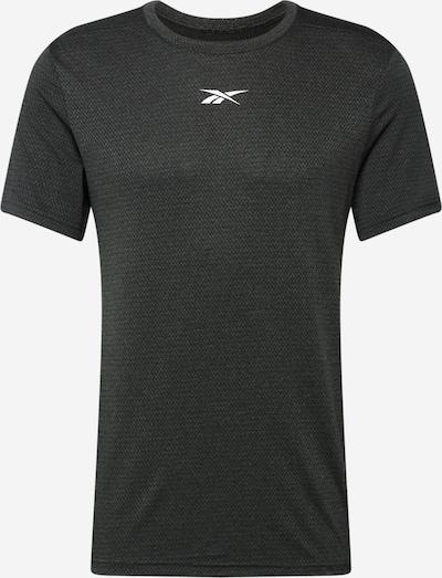 Tricou funcțional REEBOK pe negru amestecat / alb, Vizualizare produs