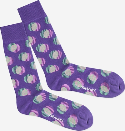 DillySocks Socken 'Optical Illusion' in beige / lila, Produktansicht