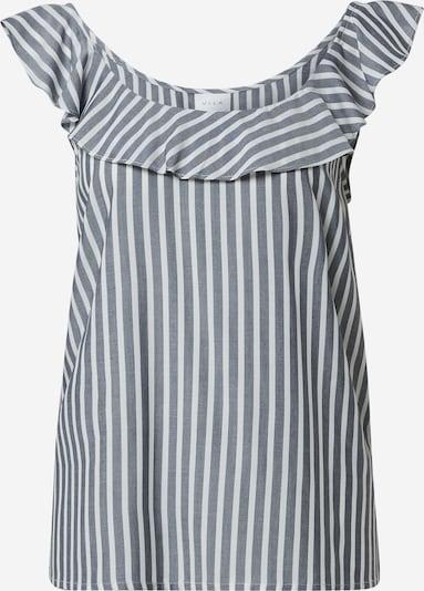 VILA Top 'Harper' in grau / weiß, Produktansicht