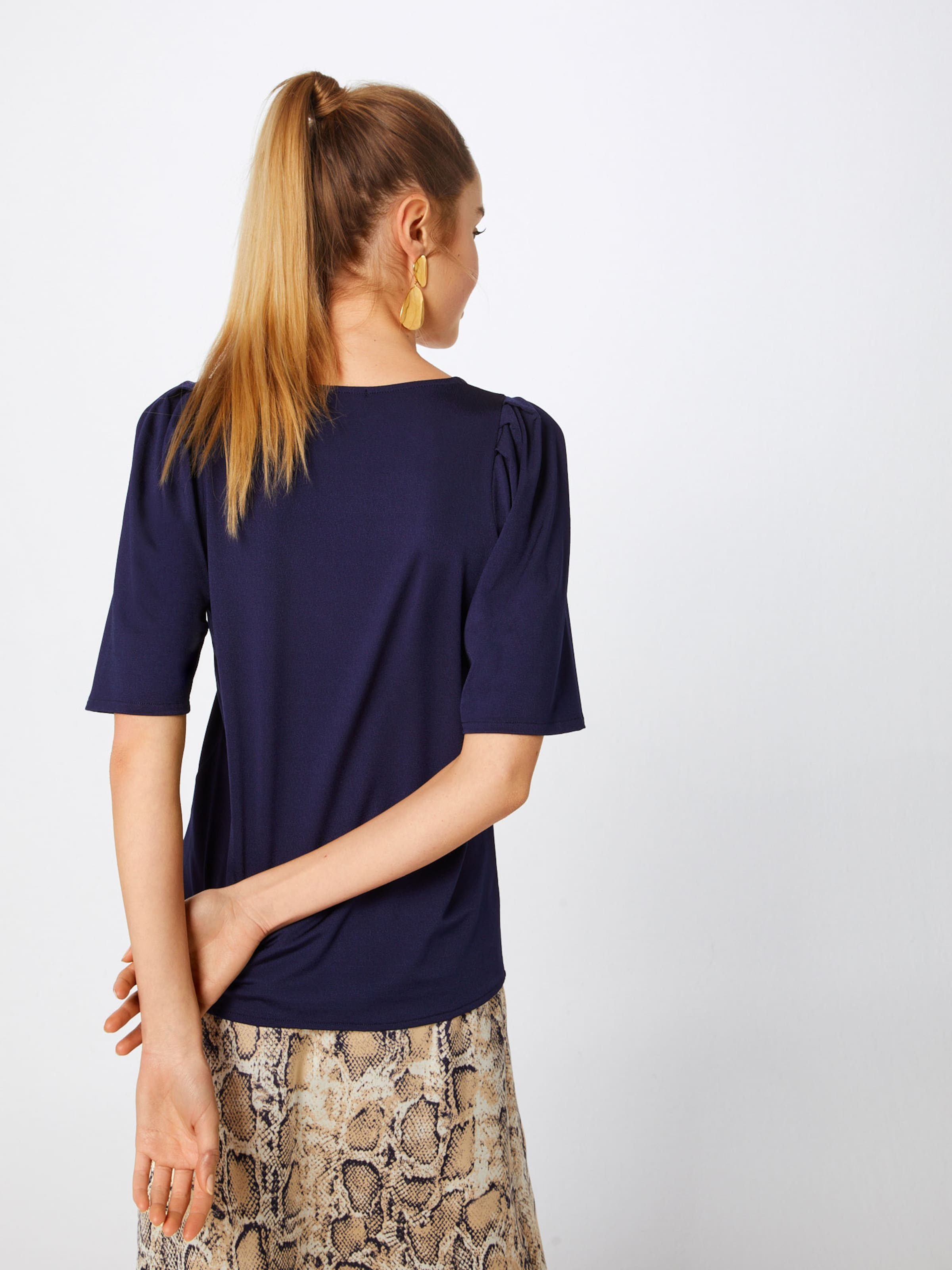 Filippa Shirt Navy 'pleat Top' In K K1lc3TFJ