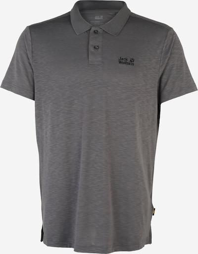 JACK WOLFSKIN Poloshirt 'TRAVEL' in dunkelgrau, Produktansicht