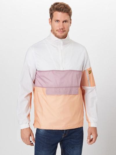 Lyle & Scott Veste mi-saison 'Overhead Jacket' en beige / blanc, Vue avec produit