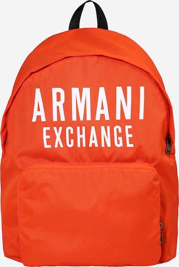 ARMANI EXCHANGE Rucksack in orange / weiß, Produktansicht