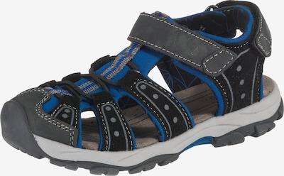 fullstop. Sandalen in blau / grau / schwarz, Produktansicht