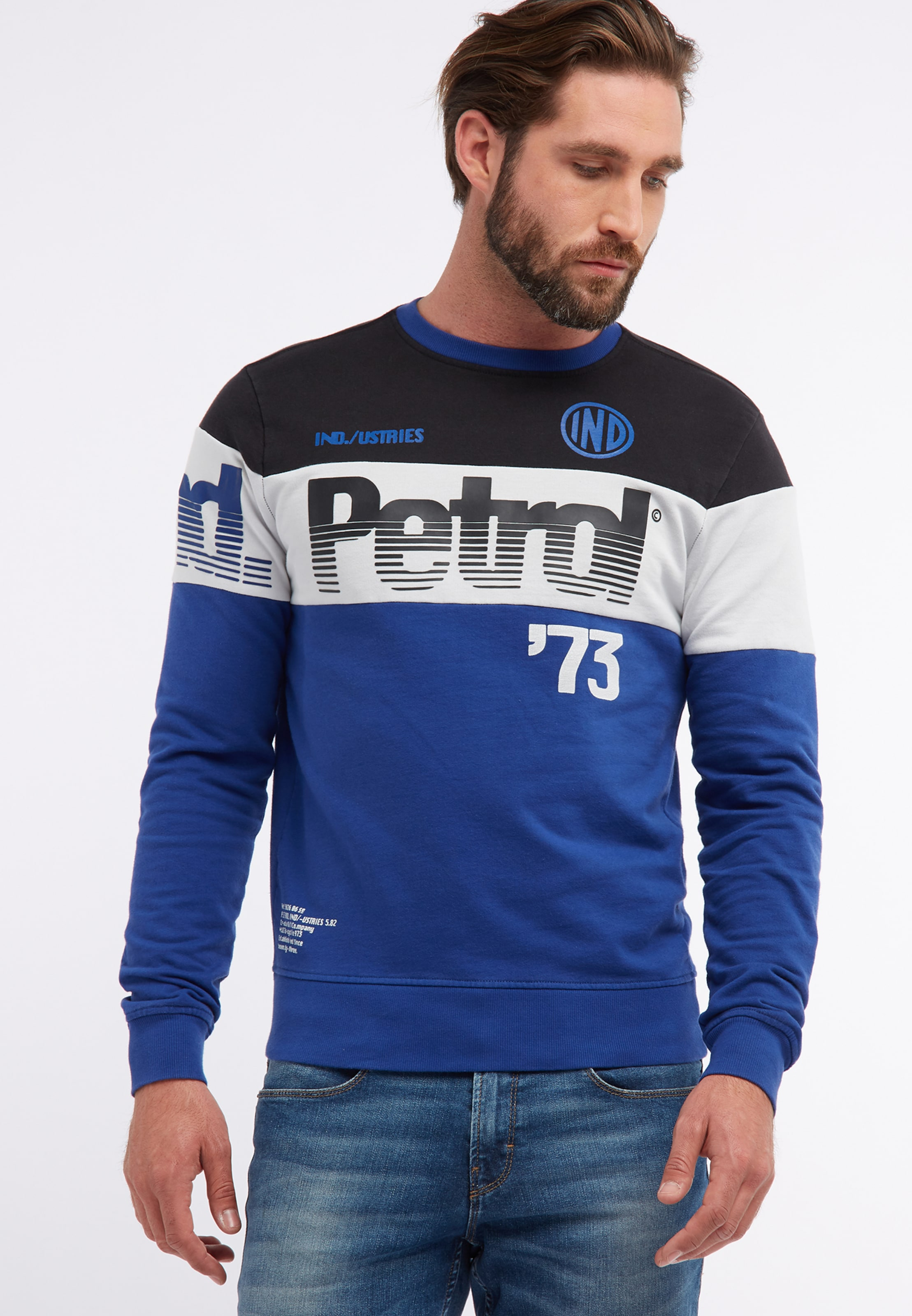 Petrol 'men' In Blau Sweater Industries 8wPn0Ok