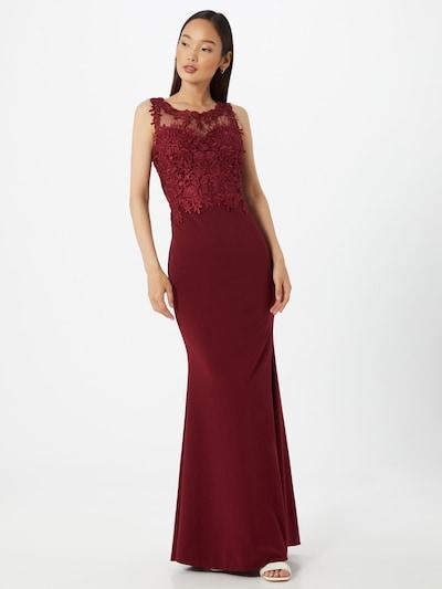 WAL G. Společenské šaty - vínově červená, Model/ka