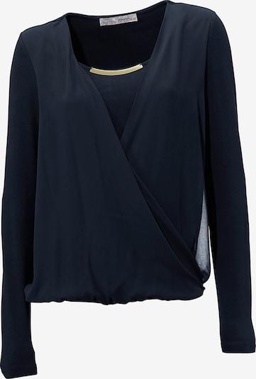 heine Bodyform-Blusenshirt in marine, Produktansicht