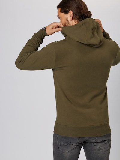 Bluză de molton ELLESSE pe kaki: Privire spate