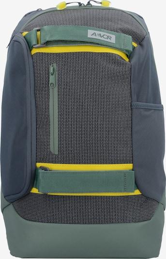 AEVOR Rucksack in dunkelgrau / smaragd, Produktansicht