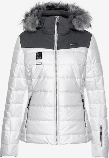 ICEPEAK Skijacke 'Pride' in dunkelgrau / weiß, Produktansicht