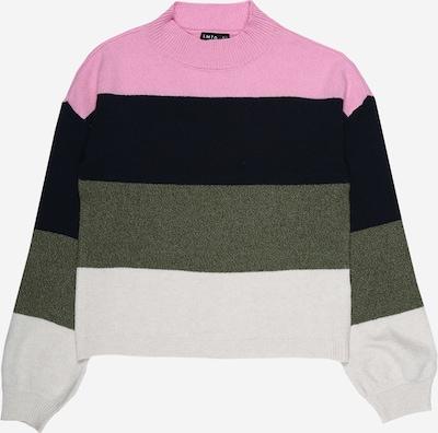 LMTD Pullover in marine / oliv / rosa / weiß, Produktansicht